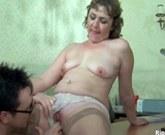 Busty mature horny slut gets pussy